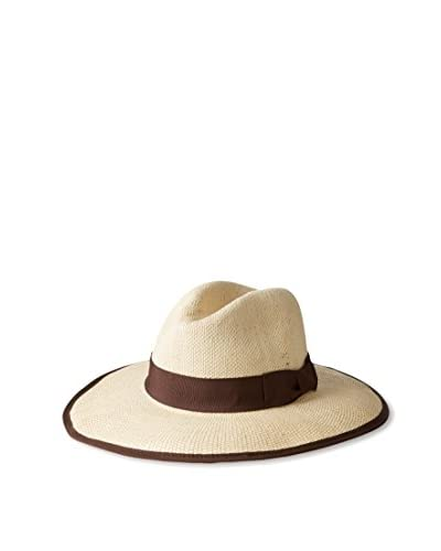 Giovannio Women's Swinger Hat, Ivory/Brown