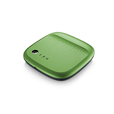 Seagate Wireless Mobile Portable Hard Drive Storage 500GB STDC500401 (Green)