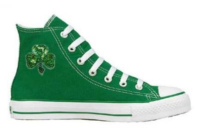 Converse Chuck Taylor All Star Hi Top Custom Kelly Green with Clover - St.  Patrick men s 6  women s 8 Feature 760c52c91