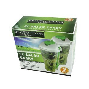 Bulk Buys Salad container set  sporks Case Of