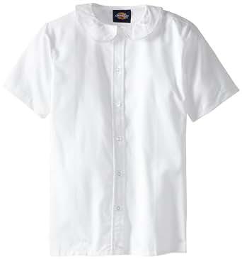 Dickies girls 39 short sleeve peter pan collar for White cotton shirt peter pan collar