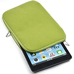 Case Star ® Stylish Velvet/flannel Ipad mini cover with zipper with Case Star velvet bag (Green)