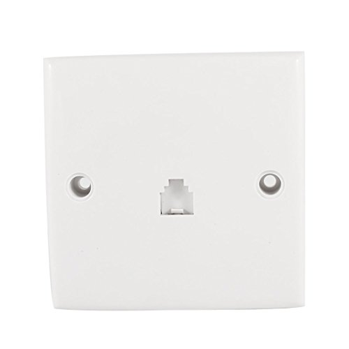 Uxcell a13112800ux0317 RJ11 6 Position 4 Pins Outlet Socket Phone Wall Mount Plate for Landline Telephone