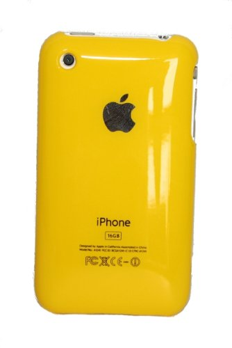 Hard Cover Case for iPhone 3G, 3G S Yellow