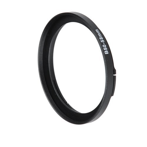 Fotodiox Bayonet 50 B50 - 58Mm Step Up Filter Adapter Ring For Hasselblad, Anodized Black Metal Filter Adapter Ring