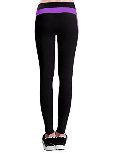 Baleaf Women's Yoga Active Ankle Legging Hidden Pocket Dewberry Size M