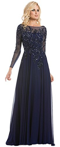Meier-Womens-Starlit-Beaded-long-sleeve-Mother-of-the-Bride-evening-gown