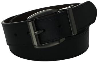 Levi's Men's Laminate Reversible Leather Belt, Black/Brown, 32