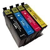 T1816 / 18XL 4 cartridges Compatible ink for Epson Expression Home XP-102 XP-202 XP-205 XP-212 XP-215 XP-30 XP-302 XP-305 XP-312 XP-315 XP-402 XP-405 XP-412 XP-415 - XL - With Chip Cyan / Magenta / Yellow / Black