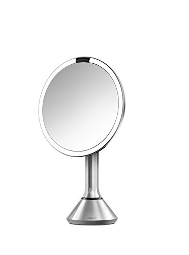 simplehuman-Sensor-Mirror-Sensor-Activated-Lighted-Vanity-Mirror-5x-Magnification-8-inches