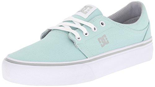 DC Women's Trase TX Skate Shoe, Blue Mist, 8 M US