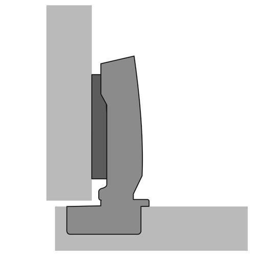 schnellmontage scharnier stahl vernickelt ffnungs herstellerbestellnummer 3000272111. Black Bedroom Furniture Sets. Home Design Ideas