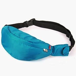 Case Star ® Polyester & Nylon Comfortable Travel Waist Bag/Pouch with Zipper with Case Star Velvet Bag (MC3238-Aqua blue)