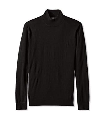 Forte Men's Mock Neck Pullover Sweater