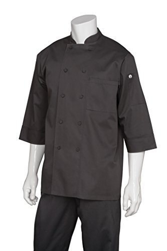 Chef Works Men's Essential 3/4 Sleeve Chef Coat (JLCL) (Womens Chef Coats With Pockets compare prices)
