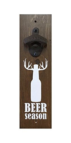 Stained Wall Mounted Bottle Opener - Beer Season (Hunting Bottle Opener compare prices)