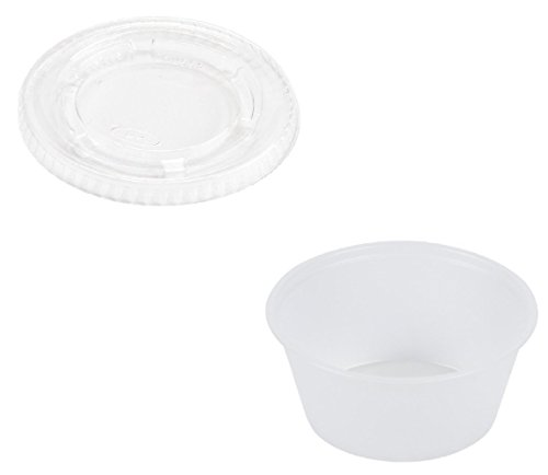 Stack Snack Disposable Jello Cups with Lids, 4 oz., 125 Piece (Go Stack Containers compare prices)