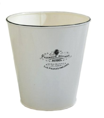 bathroom wastebasket. America Retold Apothecary White Enamel Bathroom Waste Basket