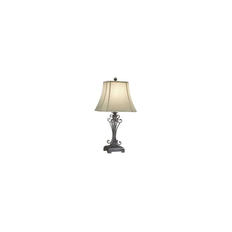 Metal Decorative Table Lamps with Square Shades