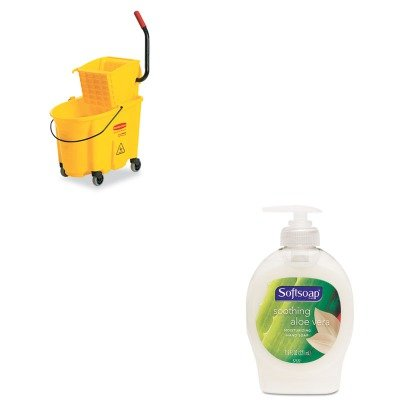 KITCPM26012EARCP748018YW - Value Kit - Rubbermaid Yellow WaveBrake Side Press Combo 26 Quart (RCP748018YW) and Softsoap Moisturizing Hand Soap w/Aloe (CPM26012EA)