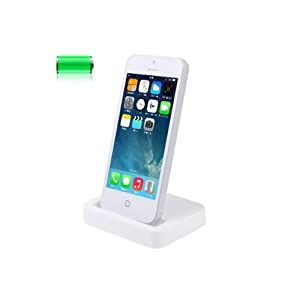 Hostey®Socle Base Station d'accueil USB synchronisation et charge pour Apple iPHONE 5 / iPod touch 5e génération / iPod nano 7e génération+ NOUVEAU CÂBLE CHARGEUR USB iPhone 5/5s QUALITÉ SUPÉRIEURE - 8 Broches
