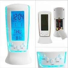 Smart Home Alarm Clocks LED large screen electronic clock with Comes Thermometer and Thermometer