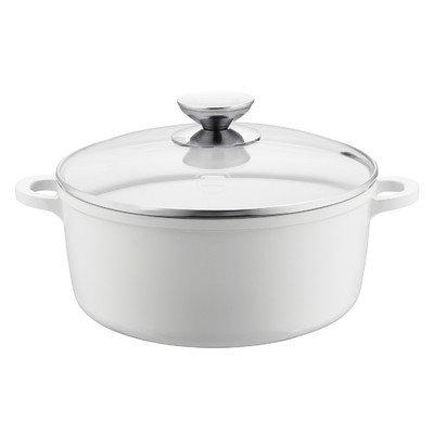 Vario Click Round Dutch Oven Size: 4.25-qt., Color: White