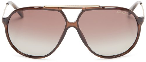 Carrera CA82S Polarized Aviator Sunglasses,Transparent Brown,64 mm