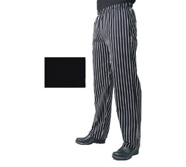 Chef Revival P014BK Poly Cotton Slim Fit Pant with 2 Side and 2 Rear Pockets, Medium, Black (Chef Pants With Side Pocket compare prices)