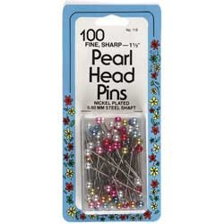 Pearl Head Pins 100 Count Collins