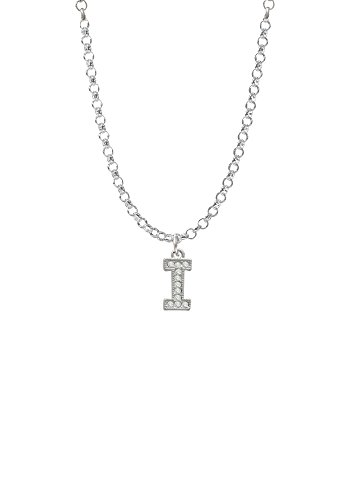 Small Crystal Initial - I - Necklace