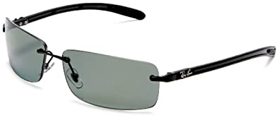 Ray-Ban RB8304 Tech Sunglasses 61 mm, Non-Polarized, Black/Green