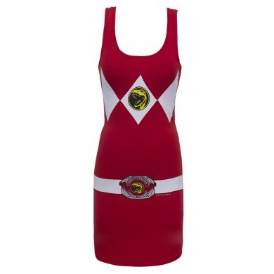Power Rangers Red Power Ranger Adult Tank Dress