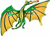 36 Inch Green Dragon Shaped Foil Balloon - Air or Helium