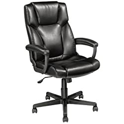 Realspace OM05193 Breckland High Back Executive Chair - Black
