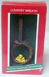 Vintage Hallmark Keepsake Miniature Christmas Ornament Country Wreath 1988