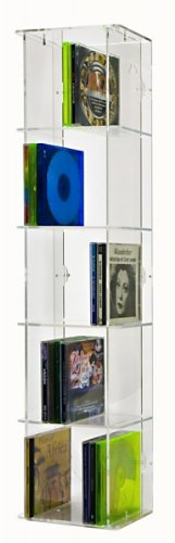 SORA Acrylic CD Tower with transparent back-panel