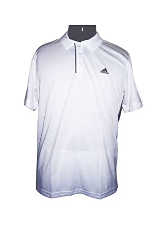 Buy Adidas Mens Tennis Sequencials Galaxy Polo (White Navy) by adidas