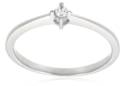 10k White Gold Diamond Promise Ring (.05 cttw, H-I Color, I3 Clarity), Size 6