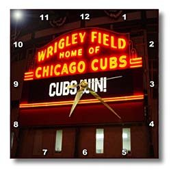 "3dRose LLC dpp_100808_3 Wall Clock, 15 by 15-Inch, ""Wrigley Field Home of The Chicago Cubs"" at Amazon.com"