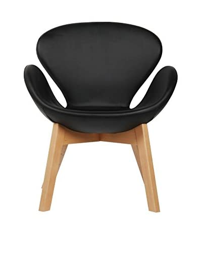 LO+DEMODA Sillón Swan Wood Arms Negro