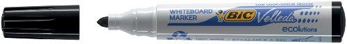 Marqueur effaçable à sec pour tableaux blancs pointe ogive encre à base d'alcool noire BIC VELLEDA 1701