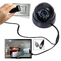 FINICKY WORLD CCTV DOME CAMERA VIDEO & AUDIO RERDER WITH IR AND INBUILT DVR & TV Out + One year Warranty