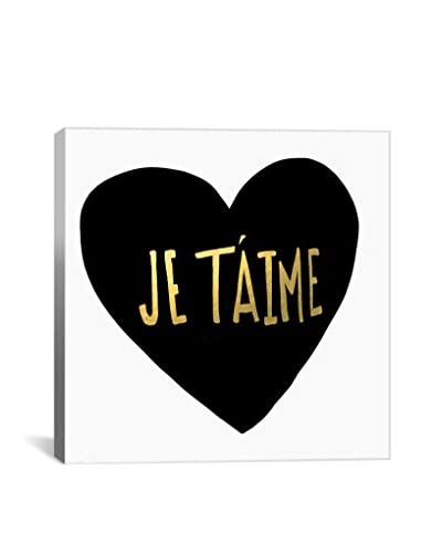 Leah Flores Je T'Aime Heart Gallery Wrapped Canvas Print