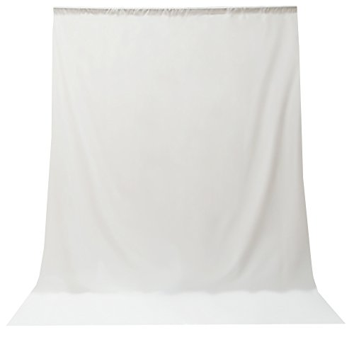 Julius Studio 6 ft X 9 ft White Photo Video Photography Studio Fabric Backdrop Background Screen, JSAG103