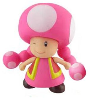 "Super Mario Brother PVC 4"" Figure Toadette - 1"