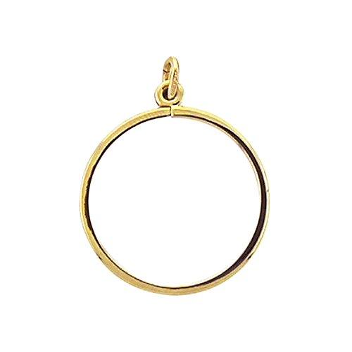 Damen Schmuck Gold Münzfassung / Anhänger für Münzen Sprengfassung aus 585 Gelb Gold ( 16,5 Ø , Höhe 1,6 mm ) kaufen