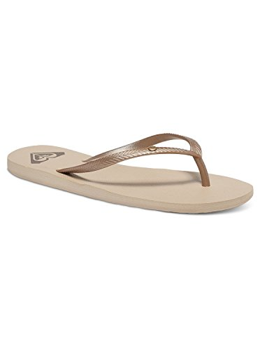 Roxy Women's Bermuda Sandal Flip Flop Flip Flop, Gold Cream, 9 M US