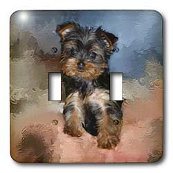 Dogs Toy Yorkie - Toy Yorkie Puppy - Light Switch Covers - double toggle switch