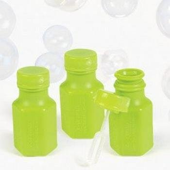 FX Educational Products - NEON GREEN HEXAGON BUBBLE BOTTLES 0.3OZ (4 DOZEN) - BULK -